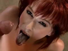 Mulheres fogosas que adoram receber gozadas na cara e na boca